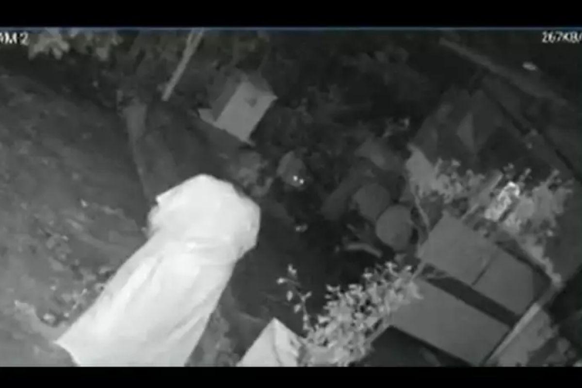 Câmeras de segurança registraram o ataque