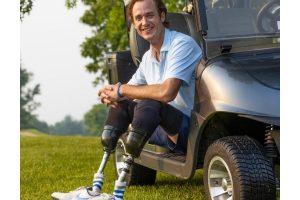 Jordan perdeu as pernas em uma viagem com os pais