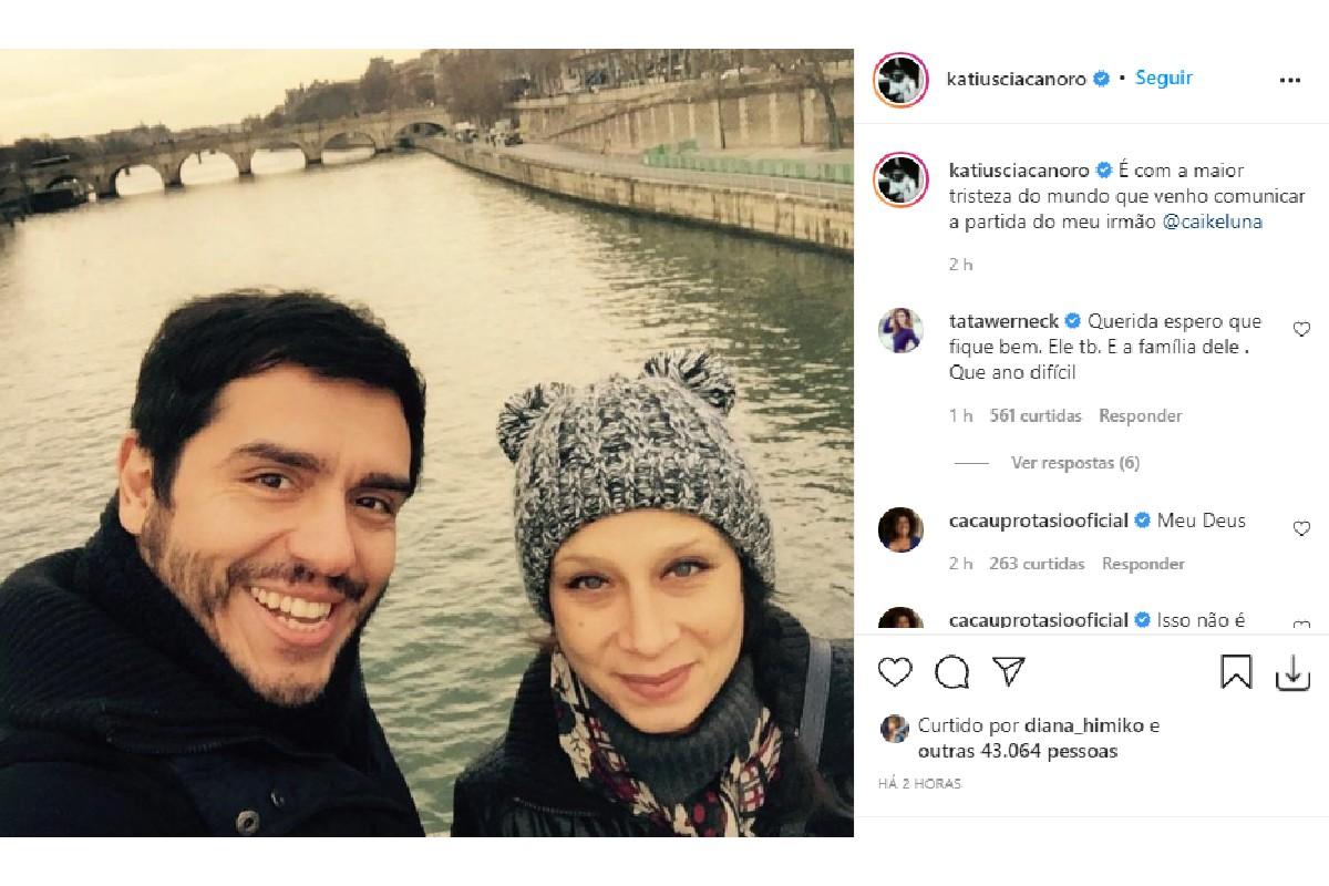 Katiuscia Canoro, irmã de Caike Luna, confirmou a notícia no Instagram