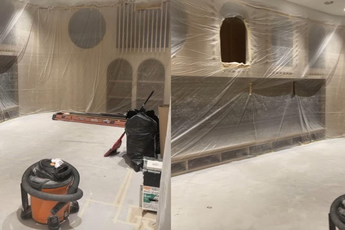 O parquinho está em fase de construção