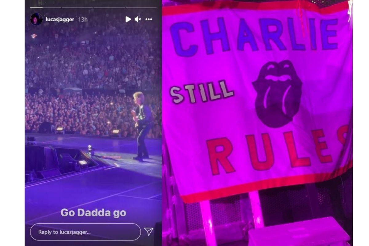 No cartaz está escrito 'Charlie ainda arrasa'