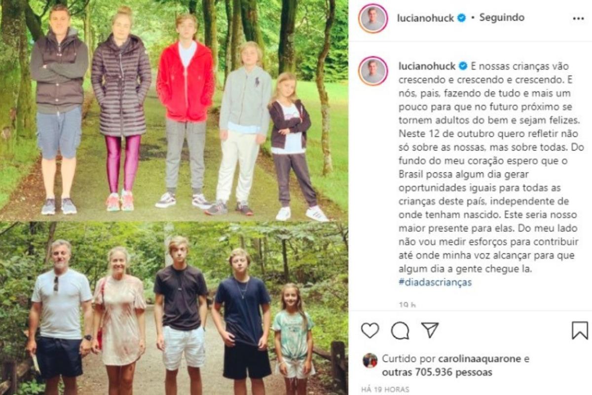 Luciano juntou toda a família para recriar a foto