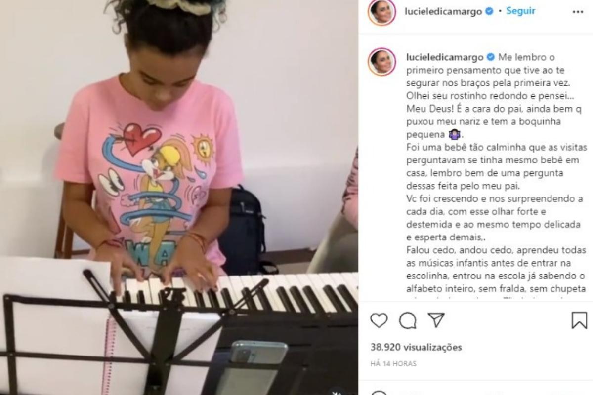 Luciele Di Camargo fez um texto para refletir sobre o crescimento da filha