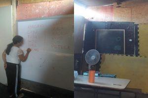 Mãe cria sala de aula improvisada em comunidade em São Paulo