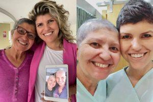 Mãe e filha se recuperam do câncer juntas