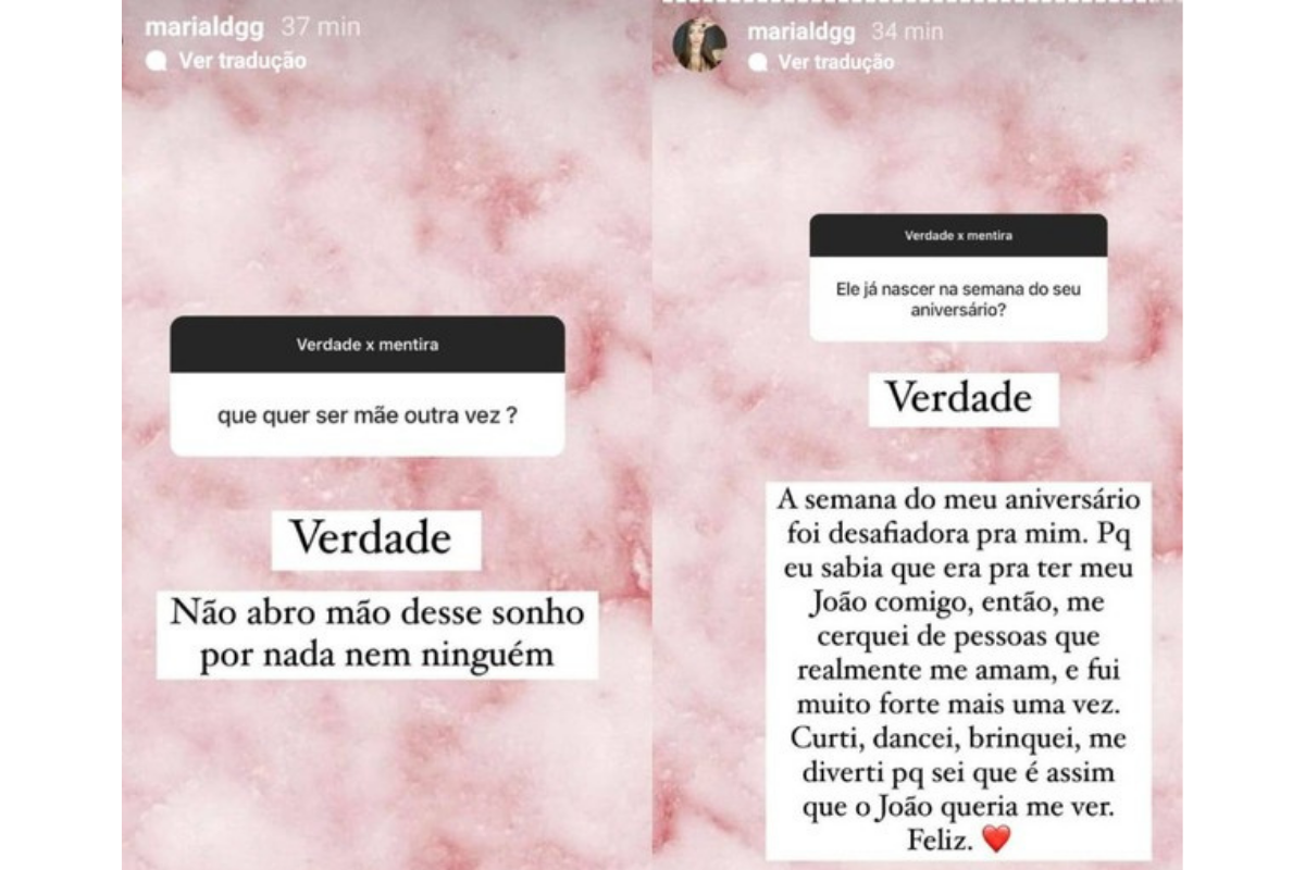 Maria Lina abriu uma caixa de perguntas para interagir no Instagram