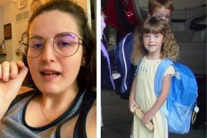 Hannah tinha apenas 7 anos quando enfiou a miçanga no nariz