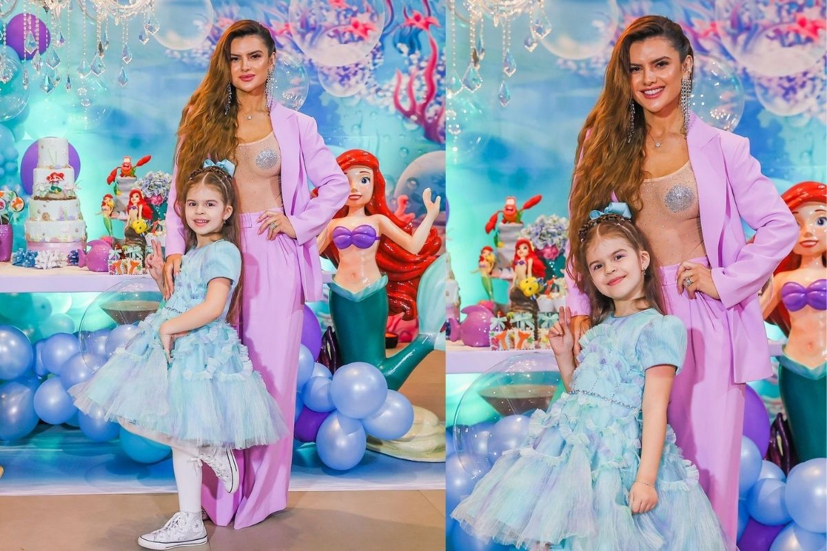 Valentina escolheu o tema 'A Pequena Sereia' no aniversário de 7 anos