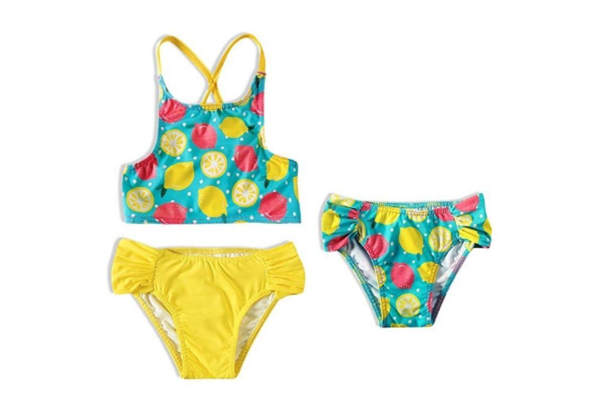 Roupas para nadar com desconto: Biquíni TipTop com estampa de frutas