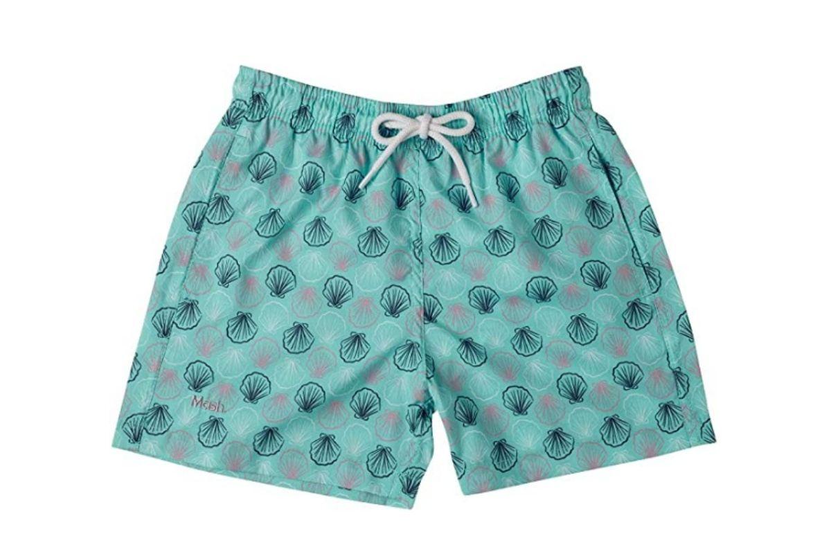 Roupas para nadar com desconto: Shorts Estampado Poliéster Infantil, Mash
