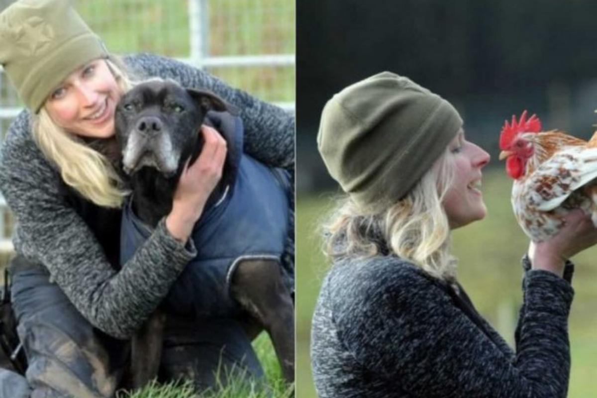 A mulher abriu um abrigo para os animais passarem os últimos dias felizes