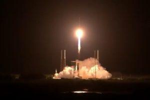 O lançamento do foguete aconteceu neste sábado, 16 de outubro
