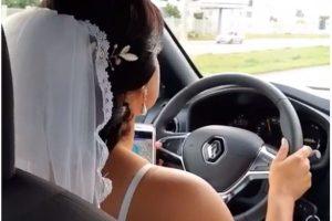 Noiva dirige até o próprio casamento após Uber cancelar corrida