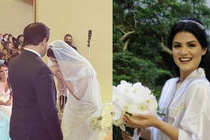 A analista de Recursos Humanos, Inaiã Dias, de 31 anos, durante casamento no último dia 16 de outubro, na Zona Sul de São Paulo