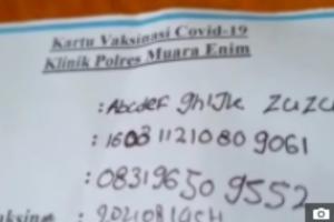 O nome veio à tona depois que a criança teve que mostrar sua identidade para obter uma vacina contra Covid-19
