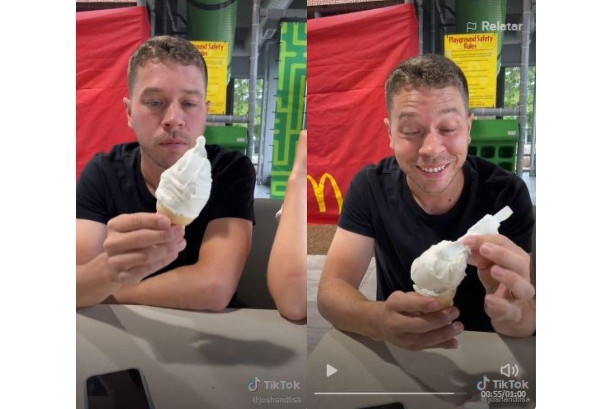O parceiro estava com uma amiga e a mulher no McDonalds quando recebeu a notícia