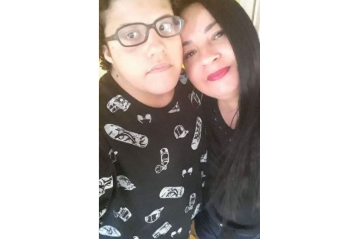 Pedro Rosa Santos e a mãe, Sybelle Rosa