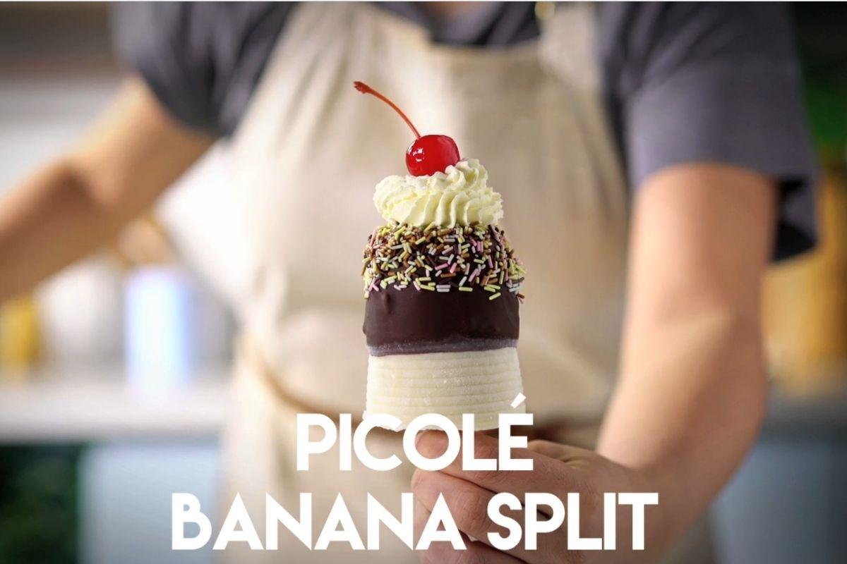 Picolé Banana Split