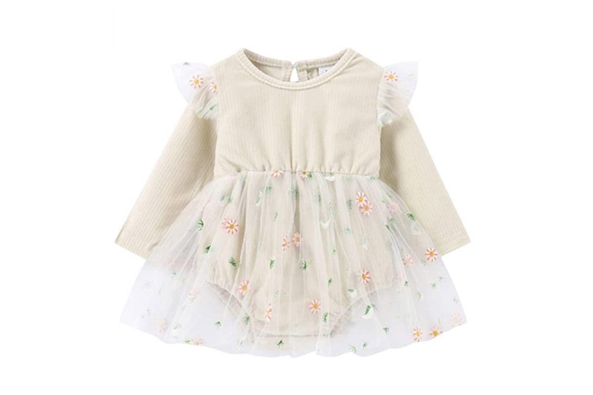 Saída da maternidade: vestido com tule
