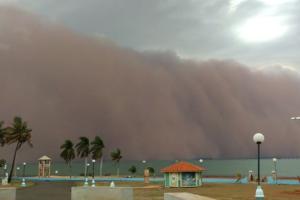 A nuvem de areia