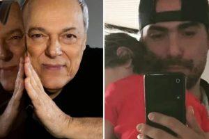 Toquinho gerou polêmica ao publicar foto do filho com o neto