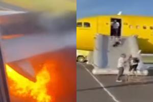 Um pássaro foi pego pela turbina, resultando em uma explosão