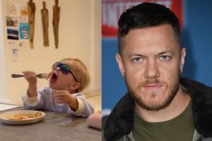 Vocalista da banda Imagine Dragons viraliza na internet ao tentar cuidar dos filhos