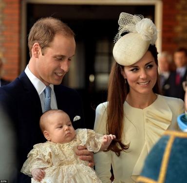 Batizado do príncipe George, no dia 23 de outubro de 2013.