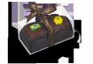 Dupla Minipães de Mel ao licor - caixa com dois minipães de mel ao licor de leite condensado, cobertos com chocolate ao leite e decorados com figuras de açúcar - R$ 14 - Amor aos Pedaços