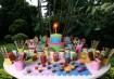 O tema aqui são as cores: tintas, sorvetes, lápis e giz de cera. Inspiração: Constance Zahn Fotos: Kit Gaion